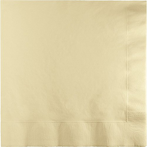 Club Pack of 600 Ivory Premium 2-Ply Disposable Lunch Napkins 6.5'' by Party Central