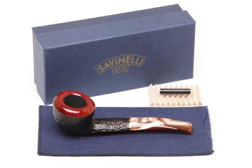 Savinelli Roma Rustic 316 KS Lucite Stem Tobacco Pipe by Savinelli