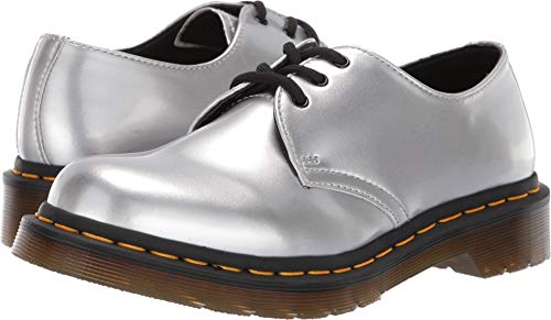- Dr. Martens Women's 1461 Vegan Metallic Chrome Silver 9 M UK
