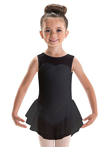 Motionwear Sweetheart Tank Double Skirted Leotard (Child Medium, Black)