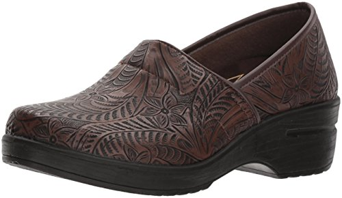 Easy Works Women's LYNDEE Health Care Professional Shoe, Brown Tool, 10 2W US