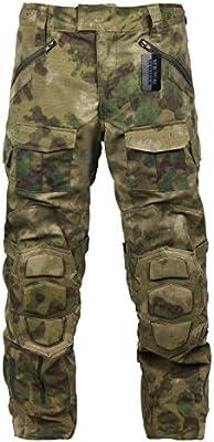 zapt Pantalones de camuflaje con rodilleras de combate táctico ...
