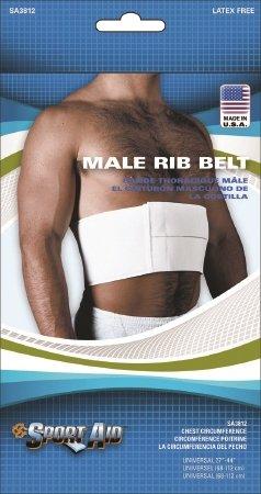 Scott Specialties Sport-Aid Rib Belt - SA3812 WHI UNMEA - Male, 1 Each / Each by Scott Specialties