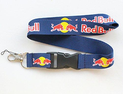 Red Bull Lanyard Keychain Navy Blue