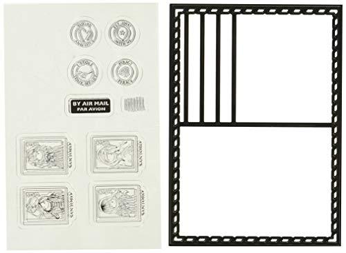 Docrafts postal Die & 10Juego de sellos de goma Santoro 's Gorjuss