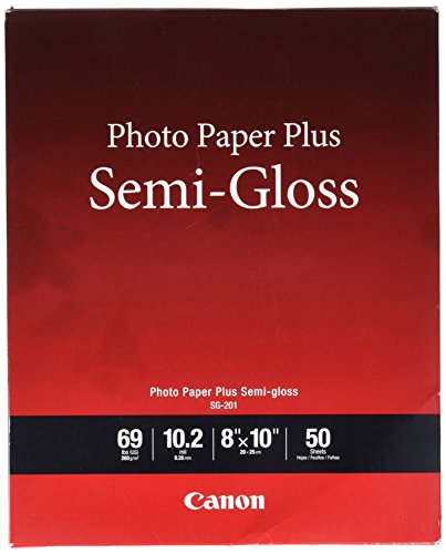 Canon Photo Paper Plus , 8 x 10 in, Semi-Gloss, 50 Sheets/Pack (SG-201)