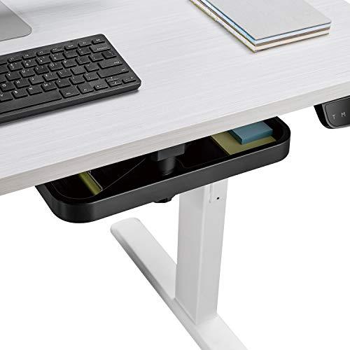 PUTORSEN® Under Desk Swivel Storage Drawer Tray, Ergonomic Undermount Shelf Organizer Holds Pens, Pencils, Paper and Other Office Supplies