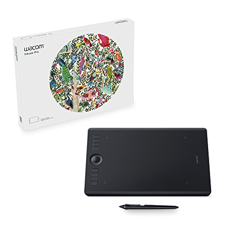 Wacom Intuos Pro digital graphic drawing tablet for Mac or PC, Medium, (PTH660) NEW MODEL by Wacom