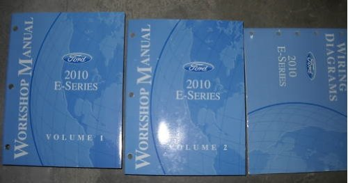 2010 Ford Econoline E-Series Van Service Manual Set OEM (2 volume set, and the wiring diagrams manual.) (Wiring Diagrams Service Manual)