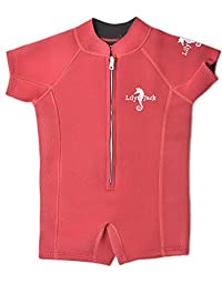 Unisex Baby Neoprene 3mm Wetsuit UV Protected Swimwear for Toddlers (Red M)