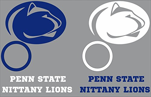 - Penn State Nittany Lions Cornhole Decal Set - 6 Cornhole Decals Free Circles