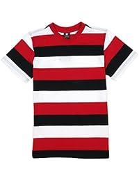 YAGO V-Neck Stripe T-Shirt - YG218 Short Sleeve V Neck Stripped Tee Shirt