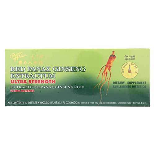 2 Pack of Prince of Peace Red Panax Ginseng Extractum Ultra Strength - 10 Vials