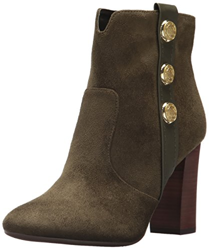 Tommy Hilfiger Women's DOMAIN Ankle Boot, Olive, 8 M US