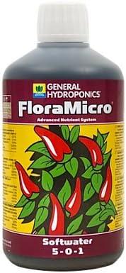 Hydrogarden GHE 500ml FloraMicro Suave Agua