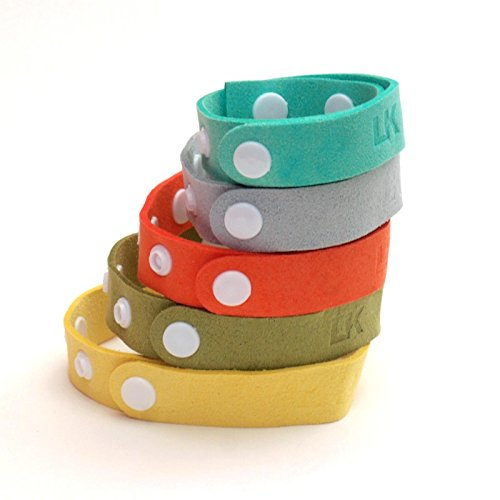 Great Features Of Best All Natural Mosquito Repellent Bracelet. Microfiber Travel Insect with DEET F...