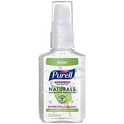 PURELL Naturals Advanced Hand Sanitizer Portable Bottle - Hand Sanitizer Gel with Essential Oils, 2 fl oz Pump Bottle - 9623-24 (Pack of 6)