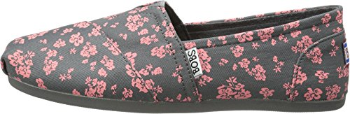 BOBS from Skechers Women's Plush Chronicles Flat, Charcoal, 7 M US