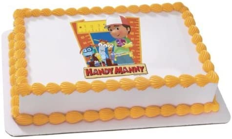 Admirable Amazon Com Disneys Handy Manny Friends Personalized Edible Birthday Cards Printable Inklcafe Filternl