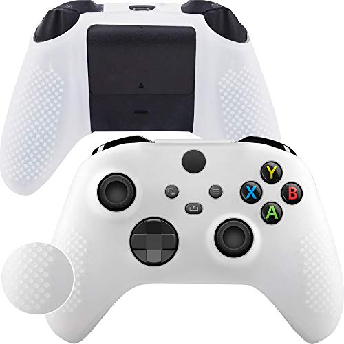 Game Rig Xbox Series X&S Controller Cover Silicon Skin - Anti-Slip 100% Compatible Case - 360 Degree Gamepad Protector White