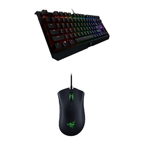 Razer BlackWidow X Tournament Edition Chroma - RGB Mechanical Gaming Keyboard with Military Grade Metal Construction and Compact Layout + Deathadder Elite e-Sports Gaming Mouse