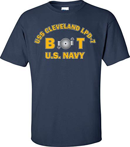 USS Cleveland LPD-7 Rate BT Boiler Technician T-Shirt Blue