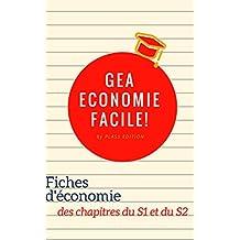 GEA : ECONOMIE FACILE (fiches de révisions d'économie du 1er et 2e semestre) (French Edition)