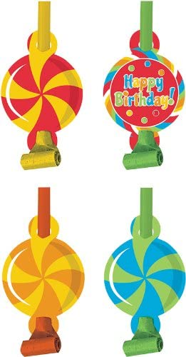 Sugar Buzz 8-Count Birthday Party Blowouts