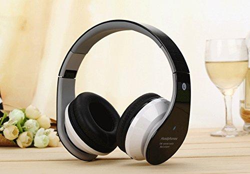 Auriculares Bluetooth Inalámbricos, Cool plegable cancelación de ruido HI-FI stereo-comfortable Ear Sticking auriculares para PC Ordenador Mac portátil ...