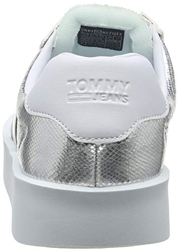 Light Tommy Femme Sneakers Sneaker Basses Jeans Retro Metallic wqqa87