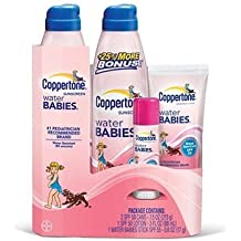 Coppertone Water Babies Sunscreen Variety Pack ( Two 7.5-oz. WaterBabies Continuous Spray Broad Spectrum SPF 50 cans )