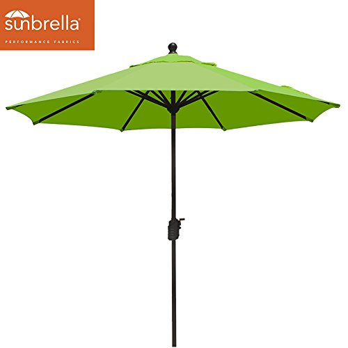 Macaw Sunbrella (EliteShade Sunbrella 9Ft Market Umbrella Patio Outdoor Table Umbrella with Ventilation,Bonus weatherproof Cover (Sunbrella Macaw Green))