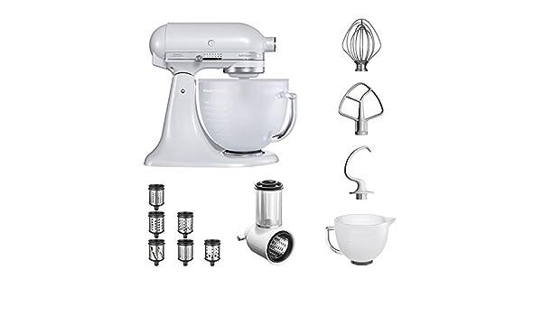 KitchenAid Robot de cocina   fop Juego   Artisan 5 ksm156efp Veggie S del paquete   con Top accesorios: Cortador de verduras con tres tambores y escofina adicional y rallador del paquete