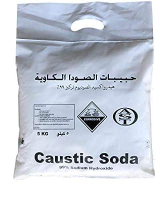 Caustic Soda (Sodium Hydroxide) 5Kg Bag - AST: Amazon com: RoyalApex