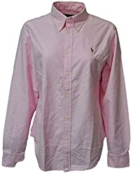 Ralph Lauren Women Oxford Classic Fit Logo Shirt (XL, New rose)
