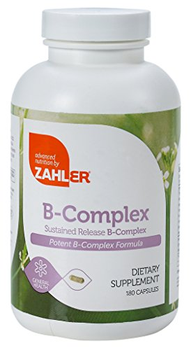 Zahler B Complex, All Natural Supplement Supporting Energy Production, #1 Pure and Potent B Complex Formula Containing all 8 Essential B Vitamins, Certified Kosher, 180 Capsules (Vitamin B-complex Formula)