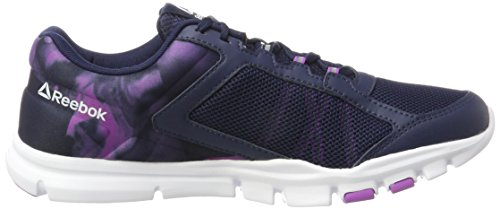 Violet Bleu De 9 collegiate Yourflex vicious Femme Reebok Trainette white Chaussures Running 0 Mt Navy q1YOU