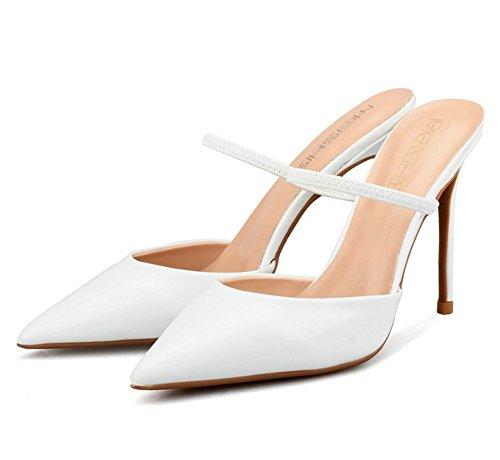 Pompa Scarpe Donna Tribunale Appuntito White Nvxie Sandalo Nozze Vestito Stiletti Dito Tacchi Del Piede zPdpwq1x