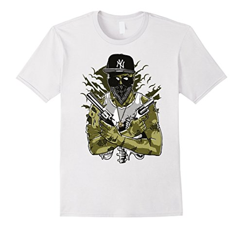 Mens Zombie Gangster Shirt Halloween Monsters rapper 3XL (Zombie Gangster Halloween Costumes)