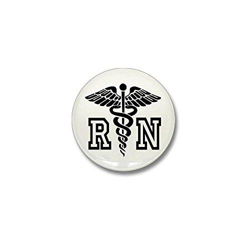 Nurse Mini Button - CafePress RN Nurse Caduceus Mini Button 1