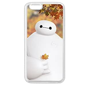 """Customized White Soft Rubber(TPU) Disney Cartoon Movie Big Hero 6 Baymax iPhone 6 4.7 Case, Only fit iPhone 6 4.7"""""""