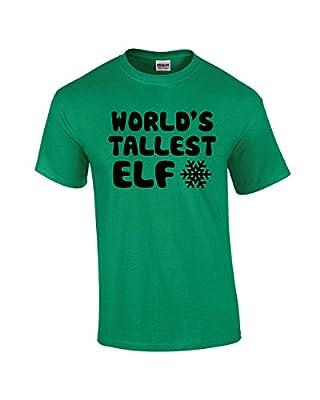 Crazy Bros Tee's World's Tallest Elf T Shirt Funny Christmas Tee Elves Premium Men's T-Shirt