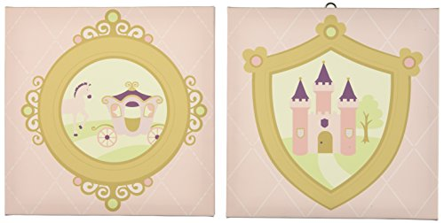 (Kids Line Rapunzel Canvas Wall Art, 2 Piece, Pink (Discontinued by)