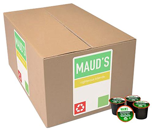 Maud's Gourmet Tea Pods - Peppermint Pattie Tea, 100-Count Recyclable Single Serve Pods - Carefully Sourced & Blended - Sealing in the Freshness - Kcup Compatible, Including 2.0 (Coffee Peppermint Blended)