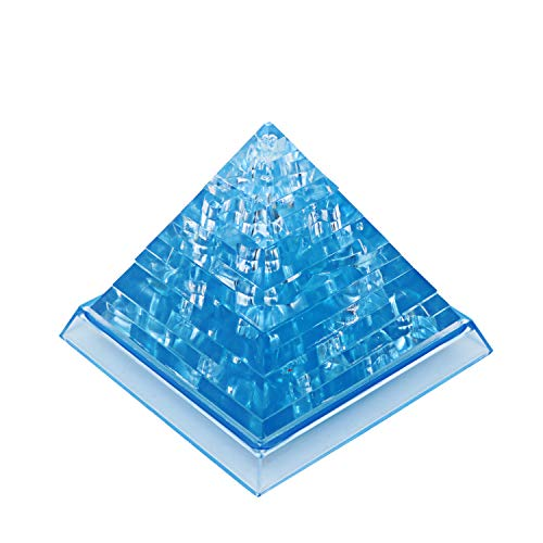 3d Pyramid Puzzle - 19 Thermolove 3D Decoration Model Toy Crystal Puzzle Game Toy Pyramid-Blue