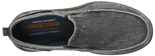 Skechers USA Elected Drigo Slip-on Loafer Charcoal Canvas shop offer nicekicks online buy cheap Cheapest fmxhIu