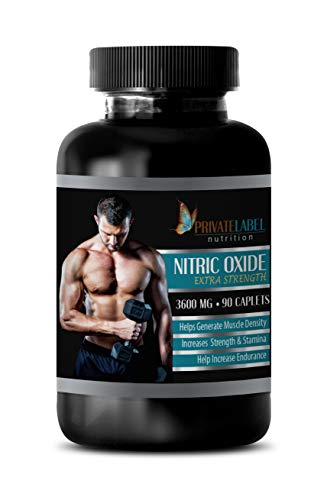 pre Workout Muscle Builder - Nitric Oxide Extra Strength 3600 Mg - Nitric Oxide Supplements for Men - 1 Bottle 90 Caplets