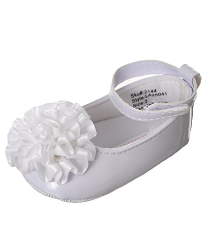 Laura Ashley Baby Girls' Mary Jane Booties - White, 18-24 Months