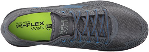Skechers Performance Mens Go Flex Aviator Walking Shoe Charcoal/Blue