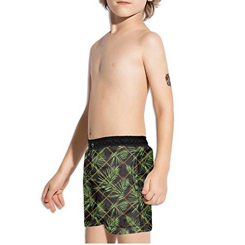 Flowering Trunk (Ouxioaz Boys' Swim Trunk Tropical Flowering Plants Beach Board Shorts)